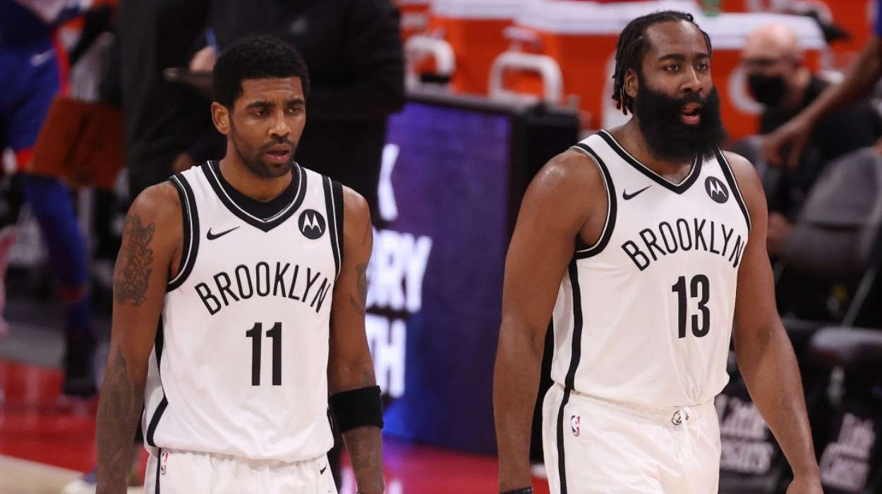 Kyrie Irving James Harden Brooklyn Nets