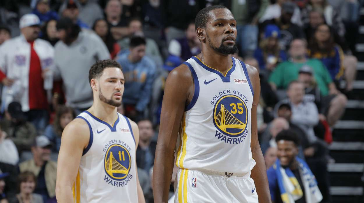 Kevin Durant Klay Thompson Golden State Warriors