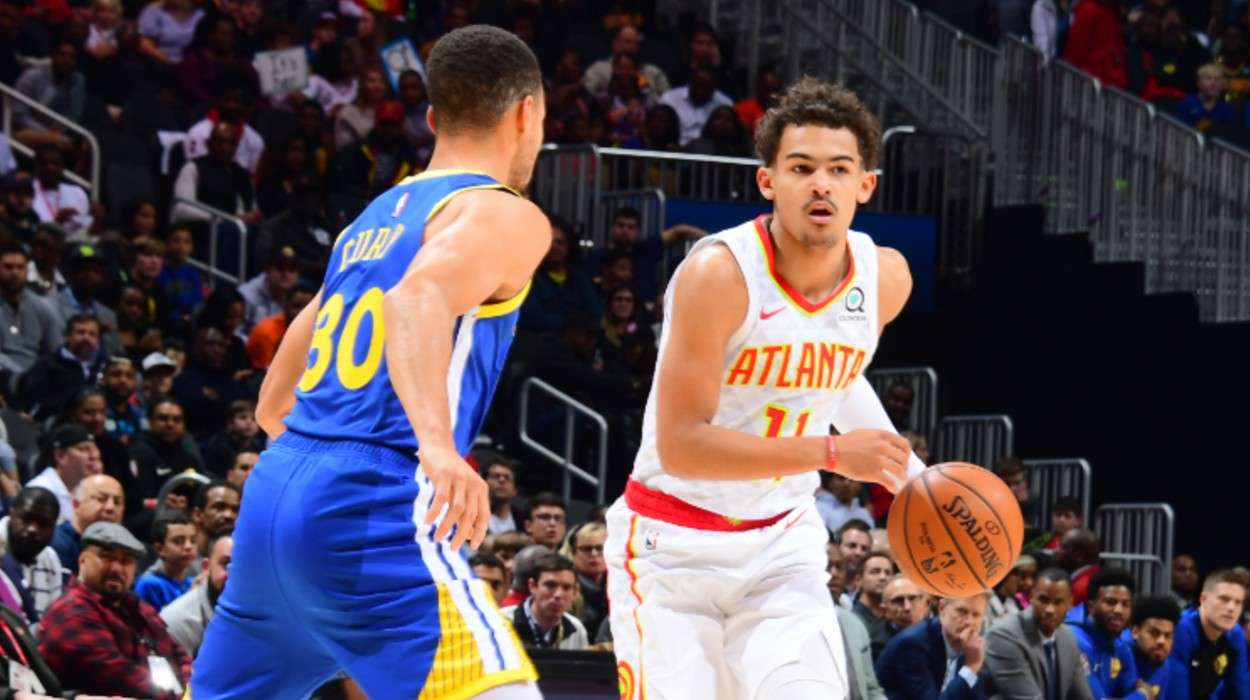 Trae Young Atlanta Hawks Stephen Curry Golden State Warriors
