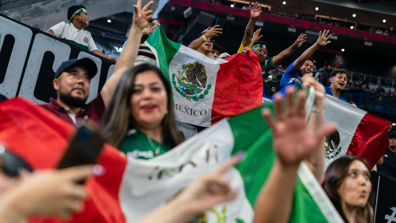 Mexico flags at game