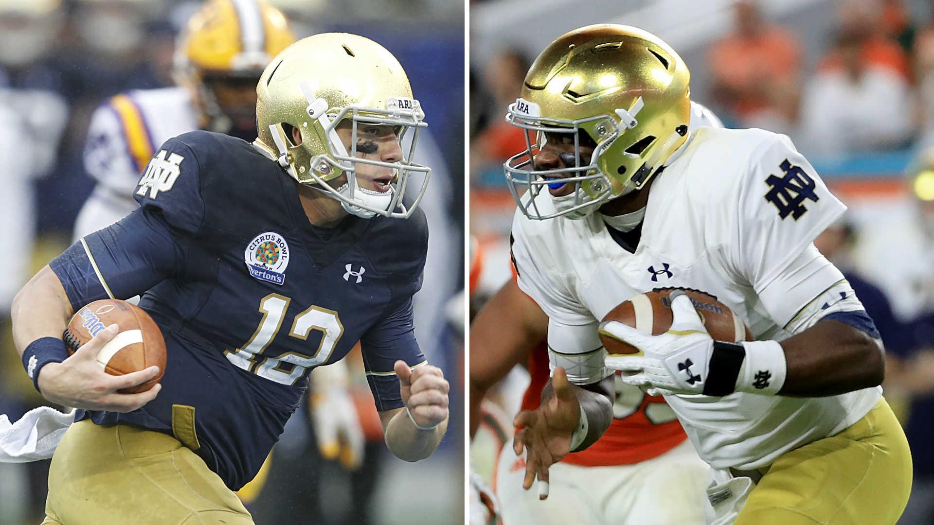 Notre Dame QB competition: Sizing up Brandon Wimbush vs ...