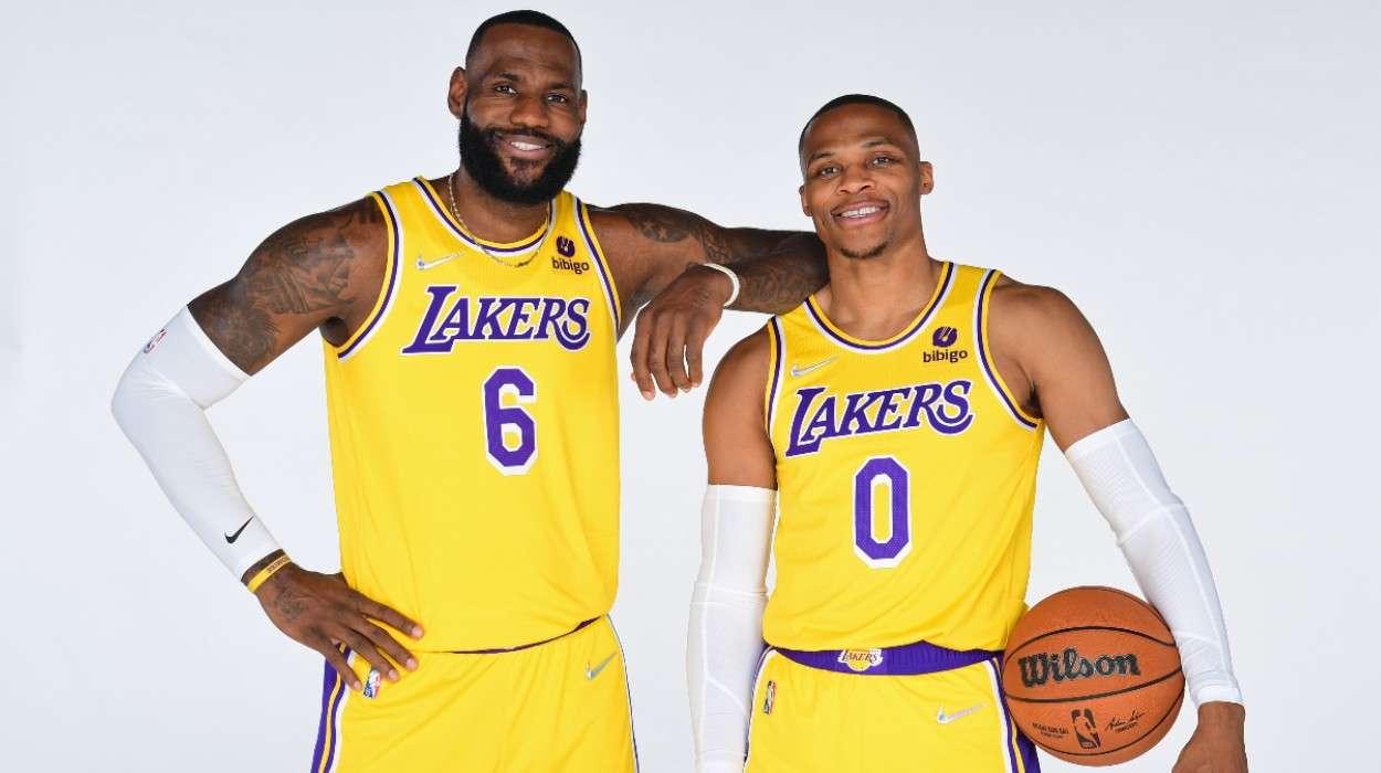 LeBron James Russell Westbrook Los Angeles Lakers