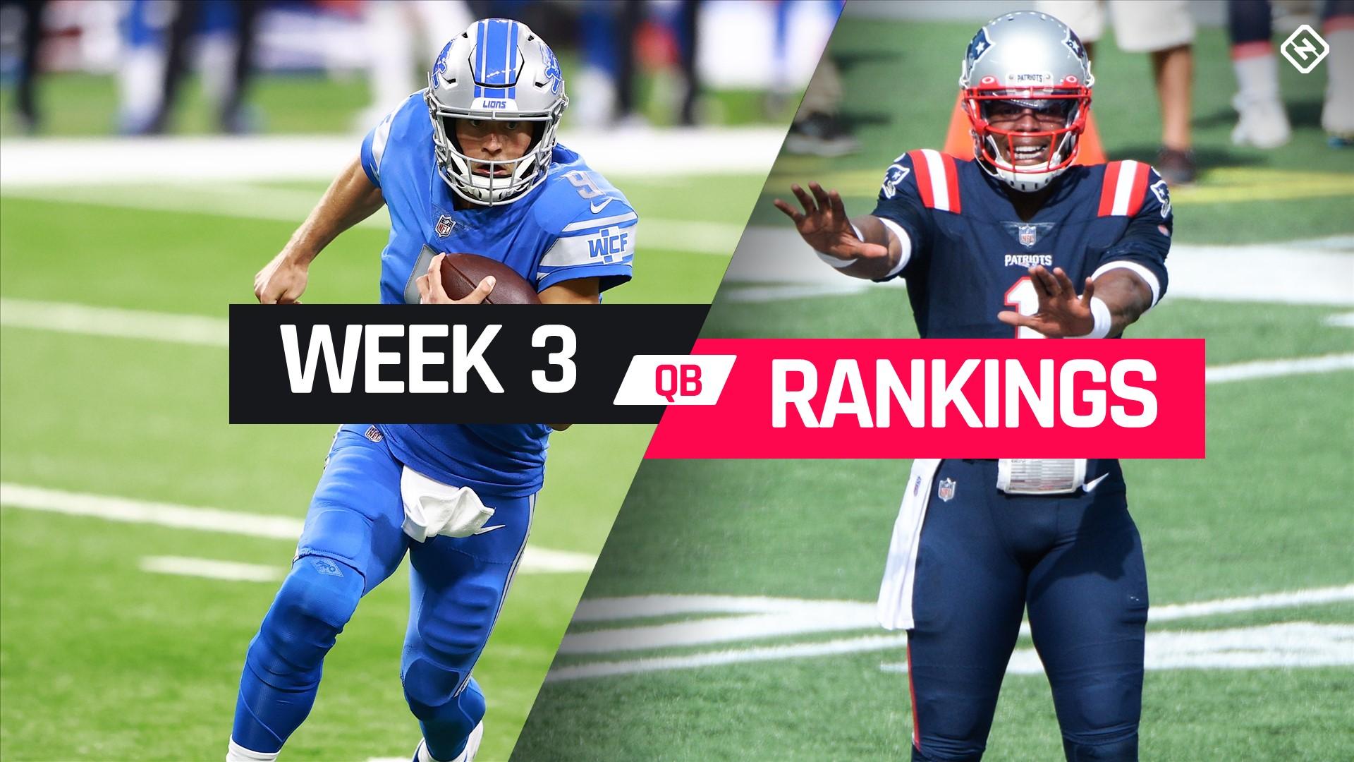 Week 3 Fantasy Football Quarterback Rankings 1