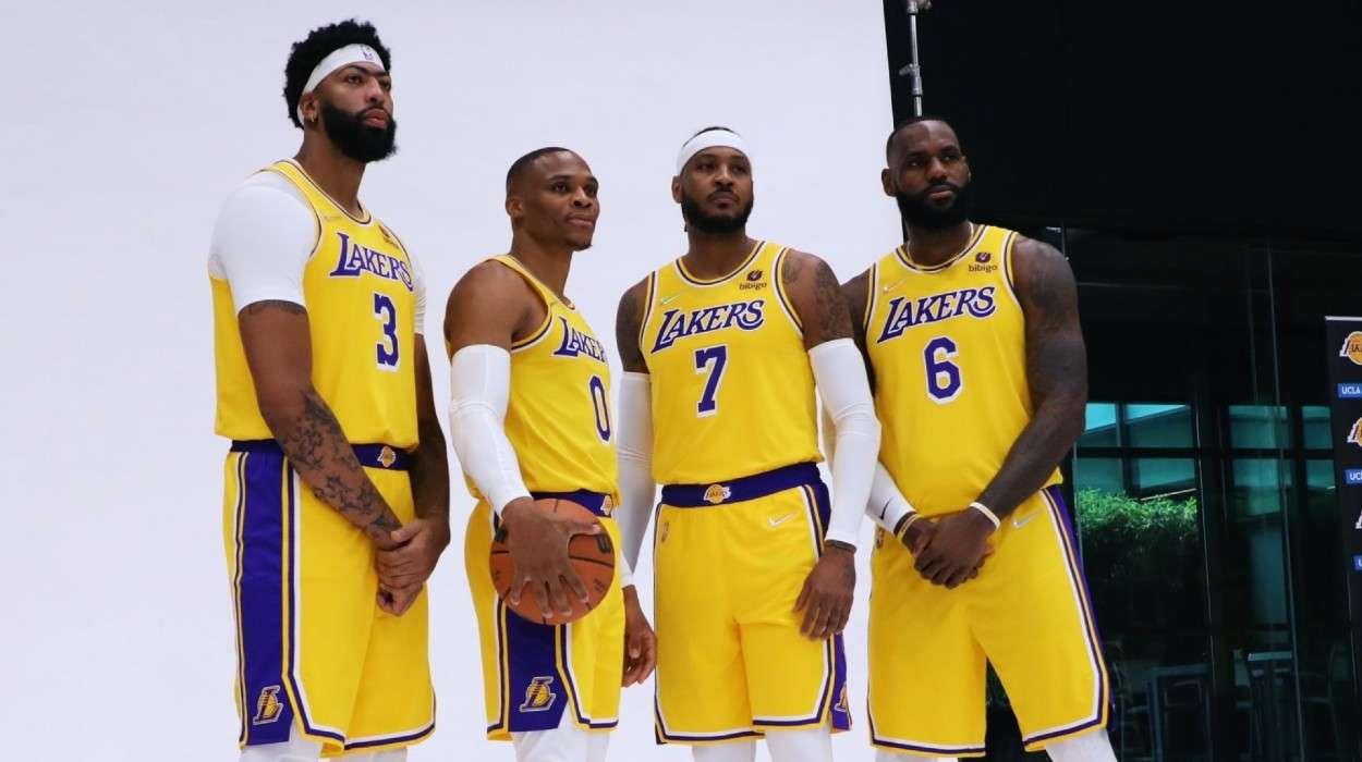 Anthony Davis Russell Westbrook Carmelo Anthony LeBron James