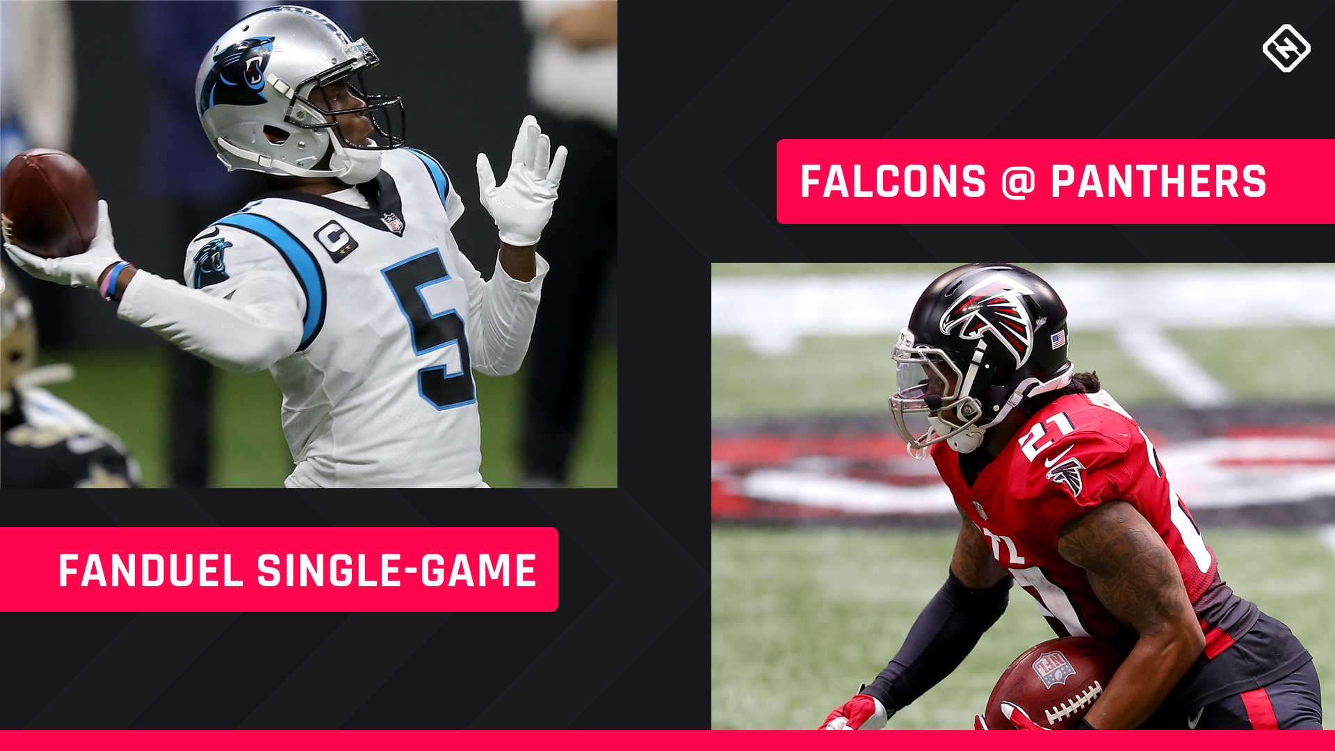 Thursday Night Football FanDuel Picks NFL DFS lineup advice for Week 8 Panthers-Falcons single-game tournaments