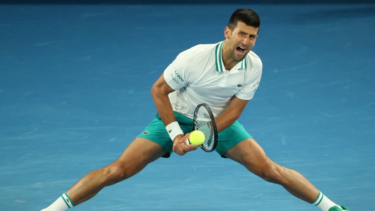 Australian Open 2021: Novak Djokovic battles through injury, gets past Milos Raonic