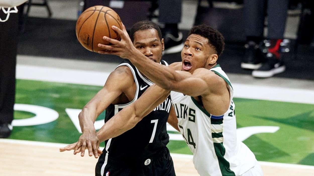 Kevin Durant Brooklyn Nets Giannis Antetokounmpo Milwaukee Bucks