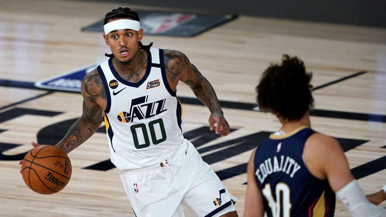 Jordan Clarkson Jazz Pelicans