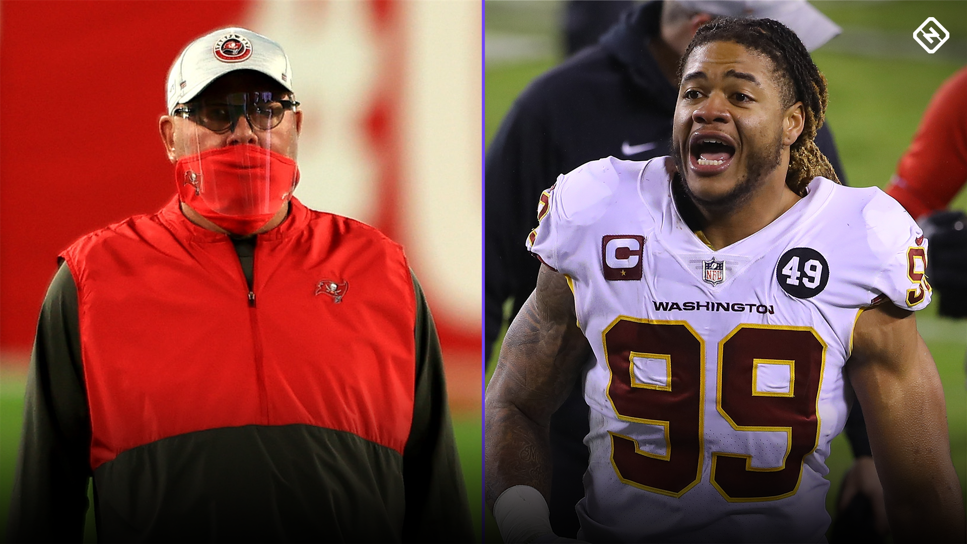 Bruce Arians warns Chase Young for Tom Brady request: 'You better watch what you wish for'