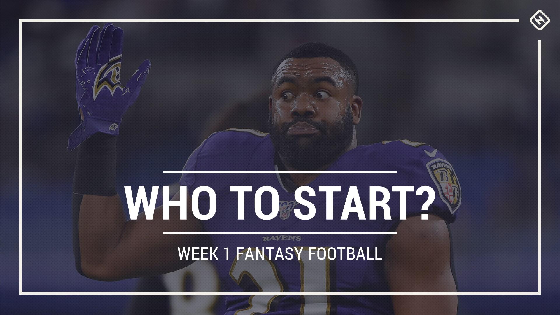 Who to start in fantasy football: Week 1 rankings, start sit advice for PPR, Standard, Superflex scoring
