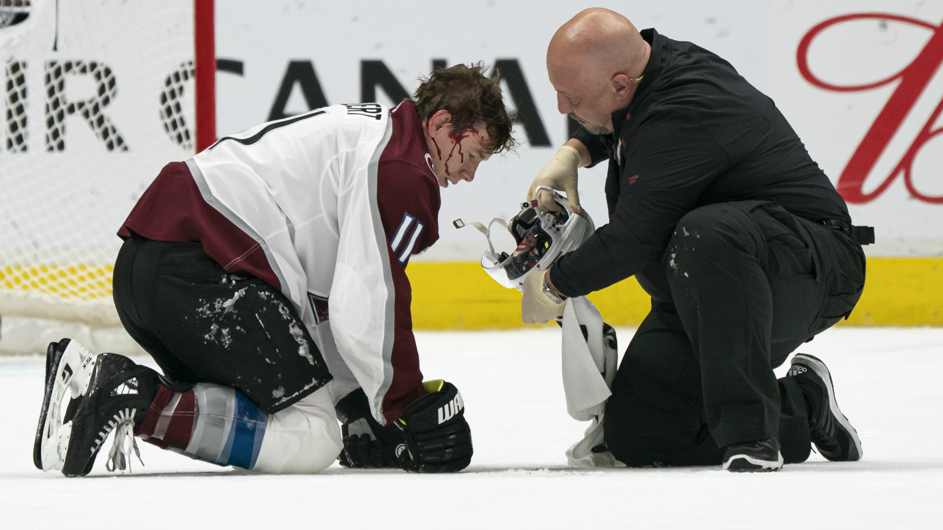 NHL players critical of Avalanche-Canucks officials for handling of Matt Calvert injury