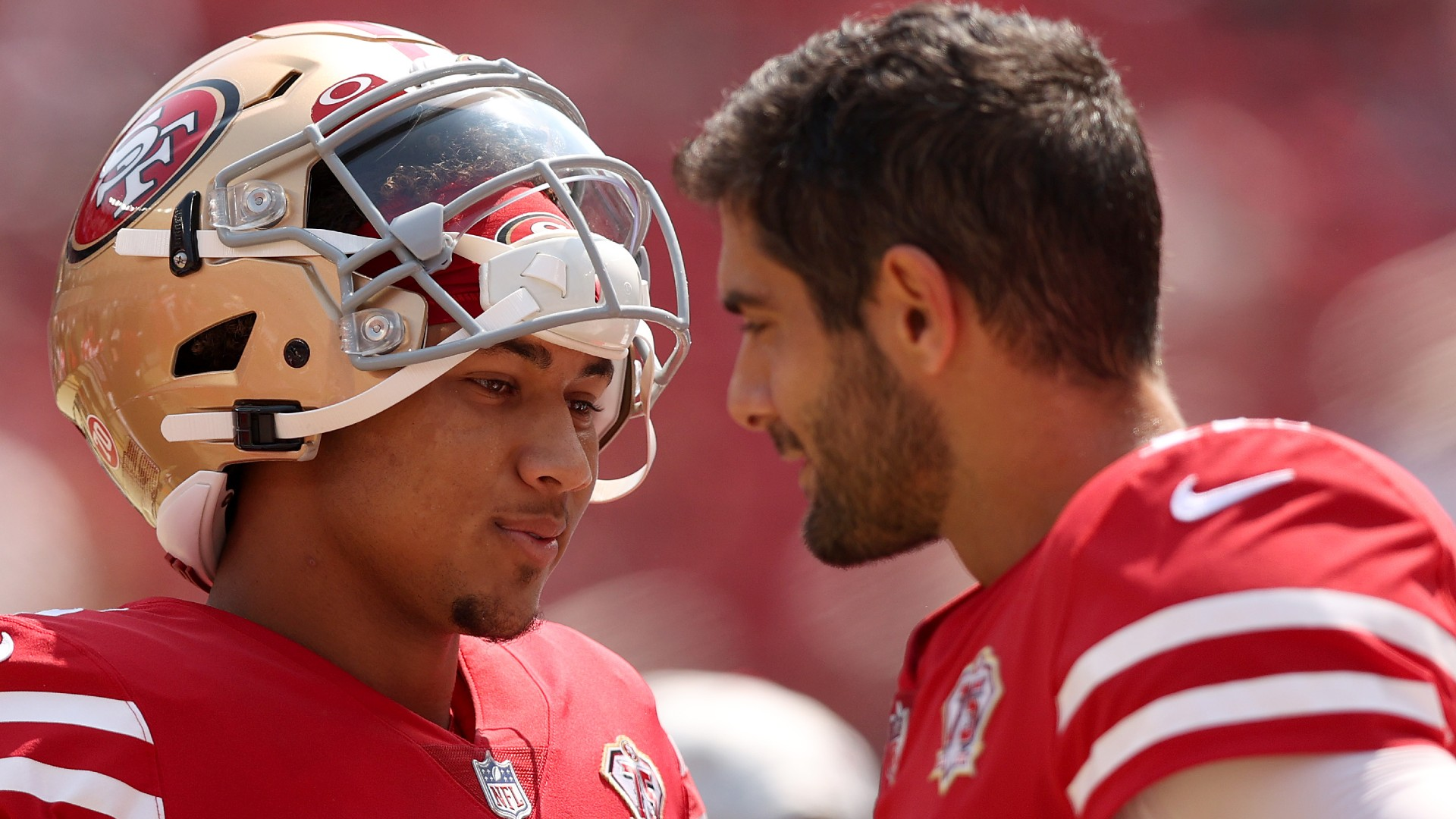 49ers' Jimmy Garoppolo, Trey Lance discuss QB rotation vs. Raiders: 'It was  fun' | Sporting News