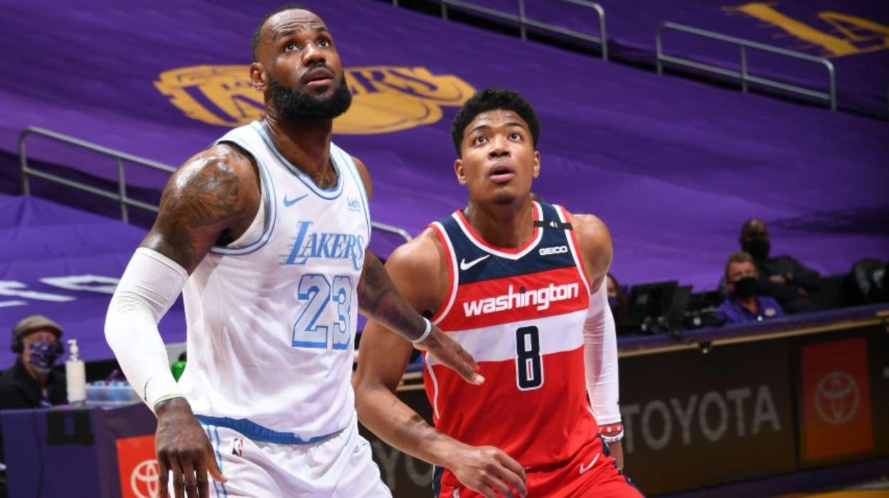 LeBron James Los Angeles Lakers Rui Hachimura Washington Wizards