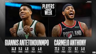 Milwaukee Bucks Giannis Antetokounmpo Portland Trail Blazers Carmelo Anthony