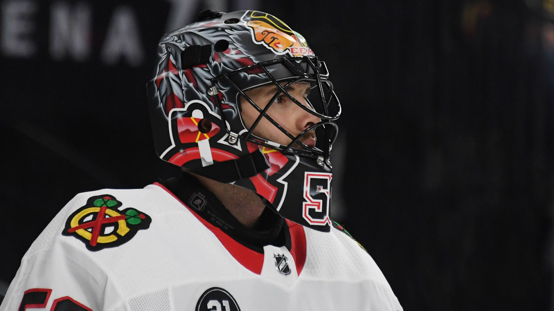 Blackhawks Goalie Corey Crawford Suffers Another Concussion Placed On Ir Sporting News