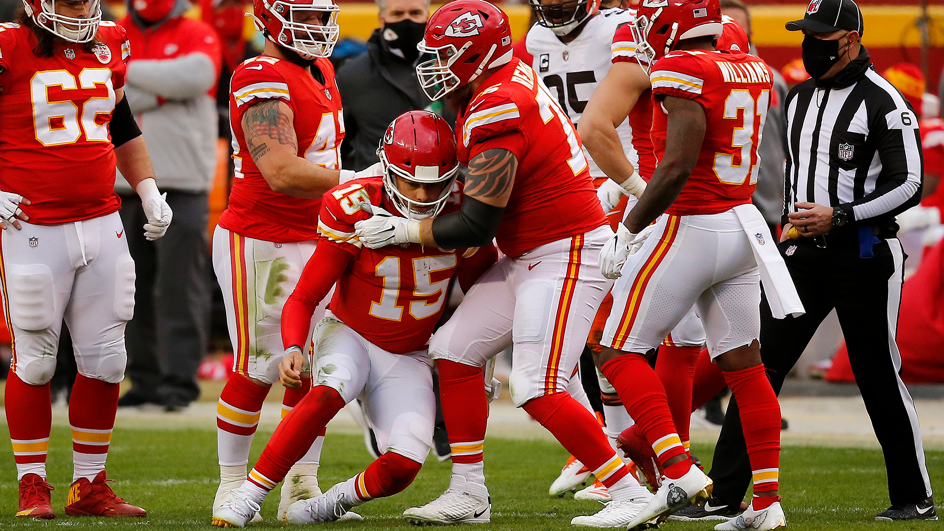Patrick Mahomes' mom was not pleased with hit that injured QB: 'Trash football'