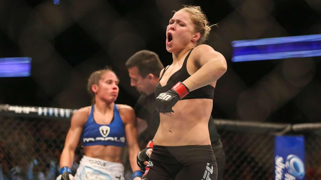 Ronda Rousey takes on Liz Carmouche in UFC 157
