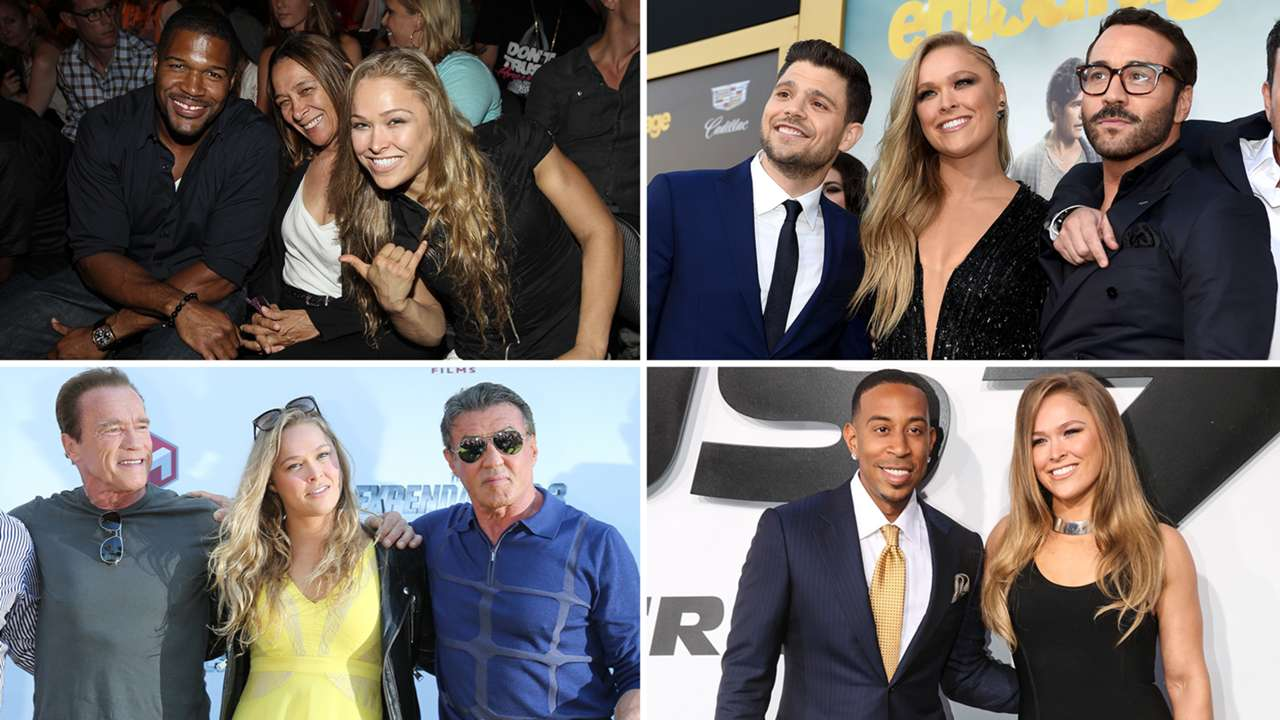 Ronda Rousey's famous friends: UFC's superstar with celebrities
