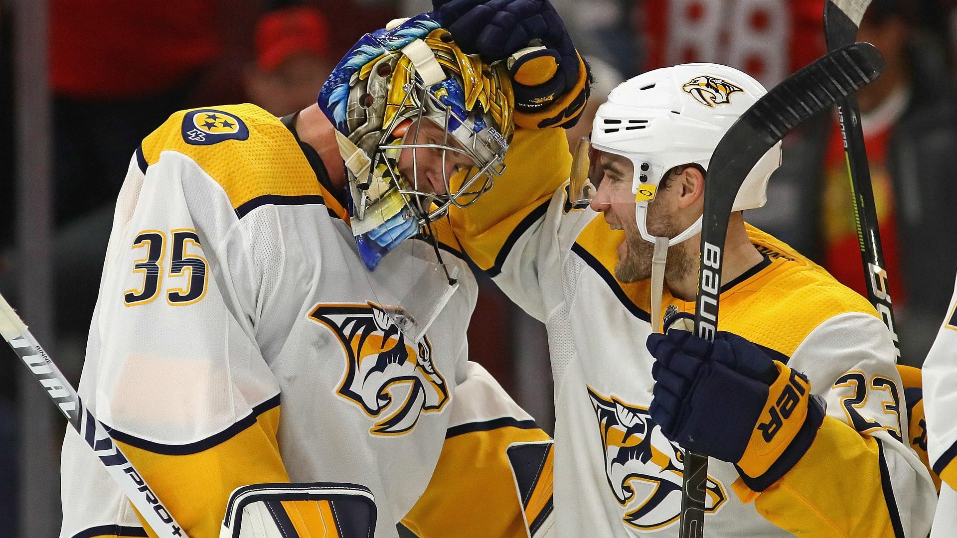 Pekka Rinne trouve le chemin du but — NHL