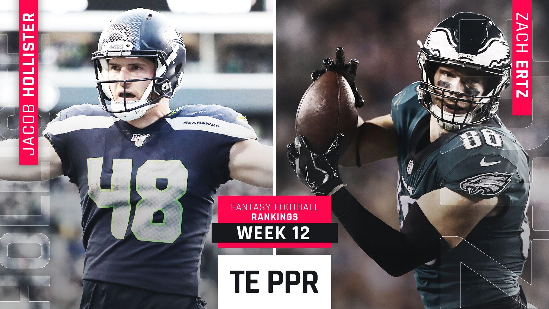 Week 12 Fantasy PPR Rankings: Tight end