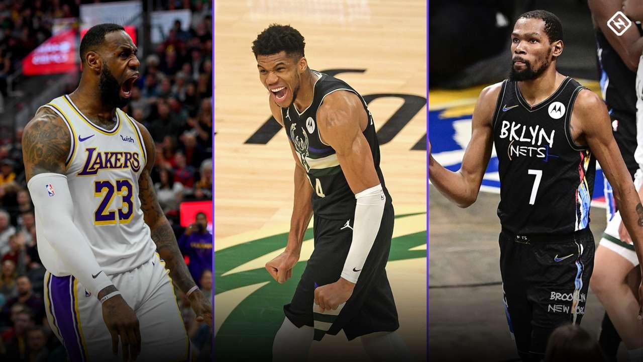LeBron James, Giannis Antetokounmpo, and Kevin Durant