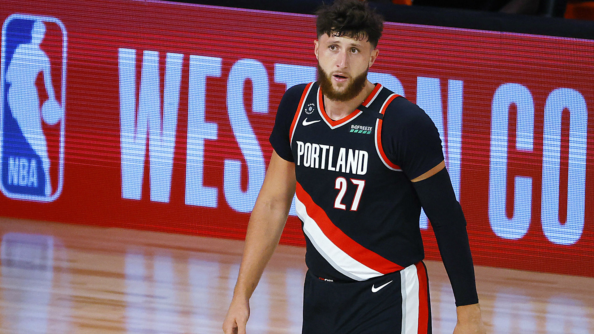 Jusuf Nurkic honors late grandmother, helps lift Blazers into NBA playoffs