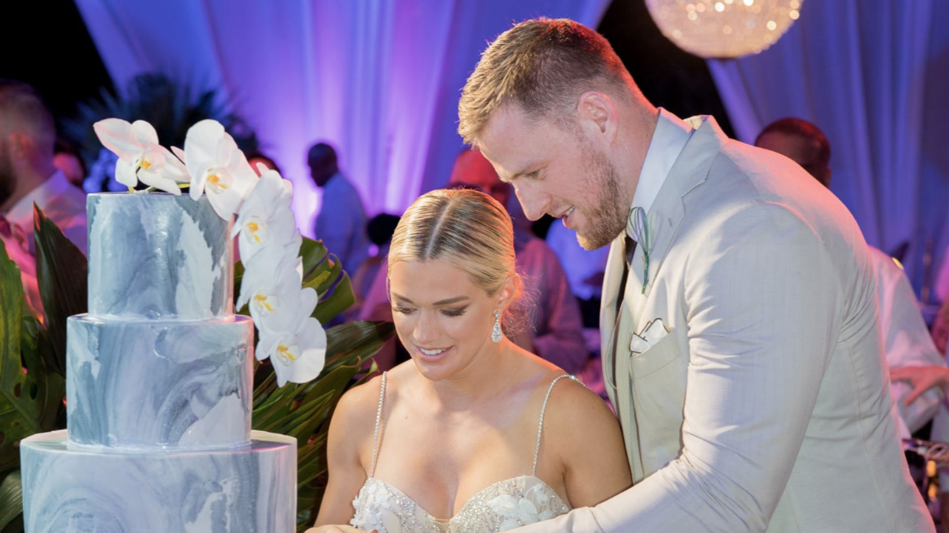 J.J. Watt shares photos from secret wedding in Bahamas