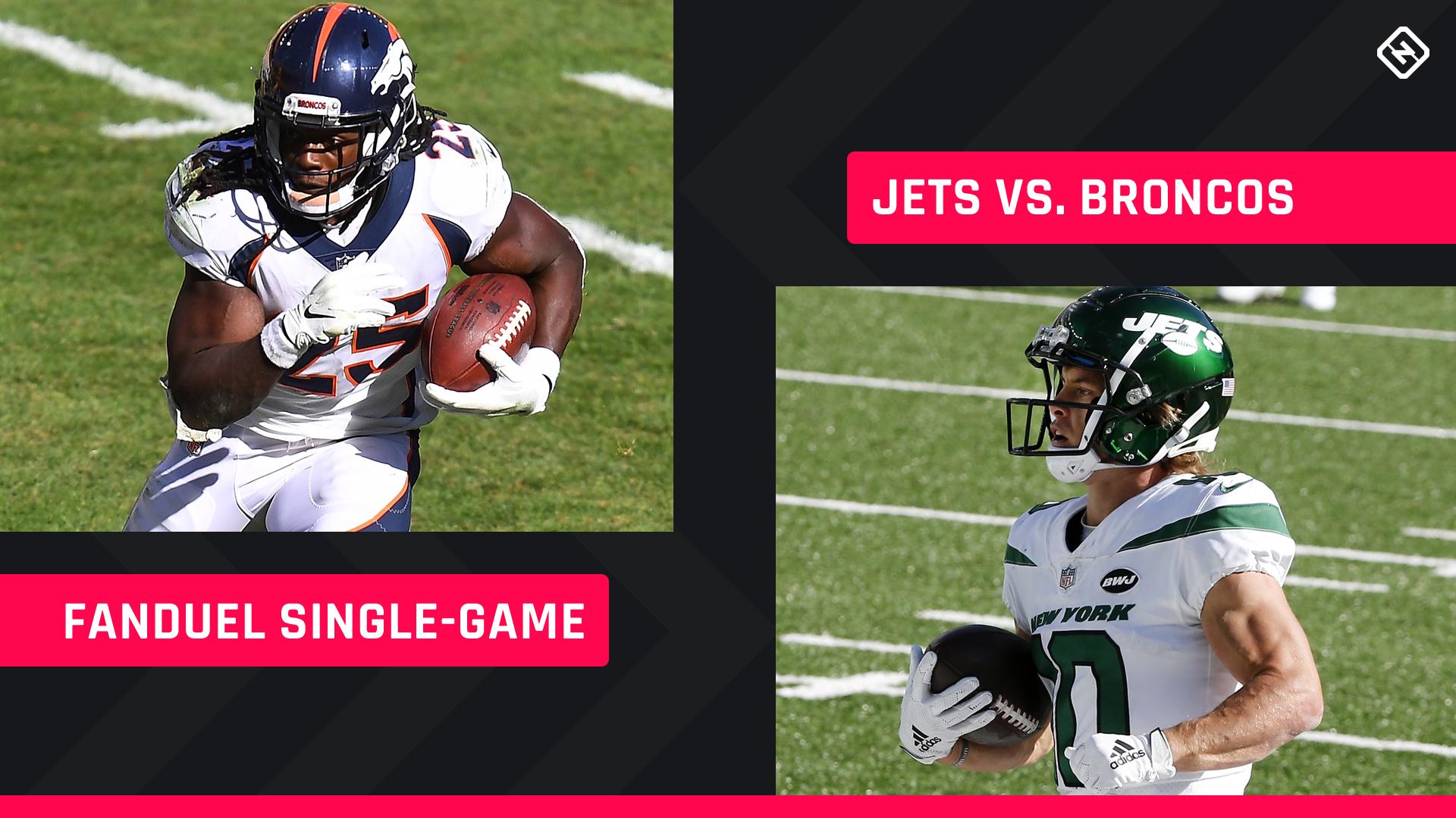 Thursday Night Football FanDuel Picks: NFL DFS lineup advice for Week 4 Jets-Broncos single-game tournaments