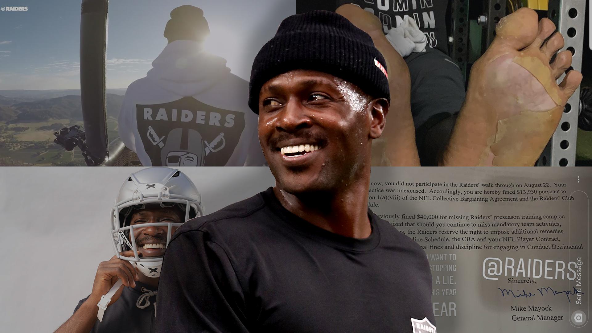 Antonio Brown Mustache >> Antonio Brown And The Raiders A Timeline Of Ab S Drama