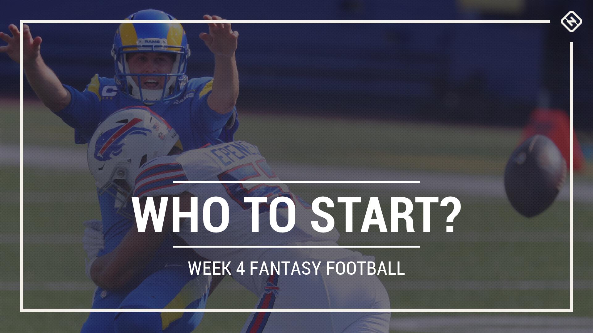 Who to start in fantasy football: Week 4 rankings, start sit advice for PPR, Standard, Superflex scoring