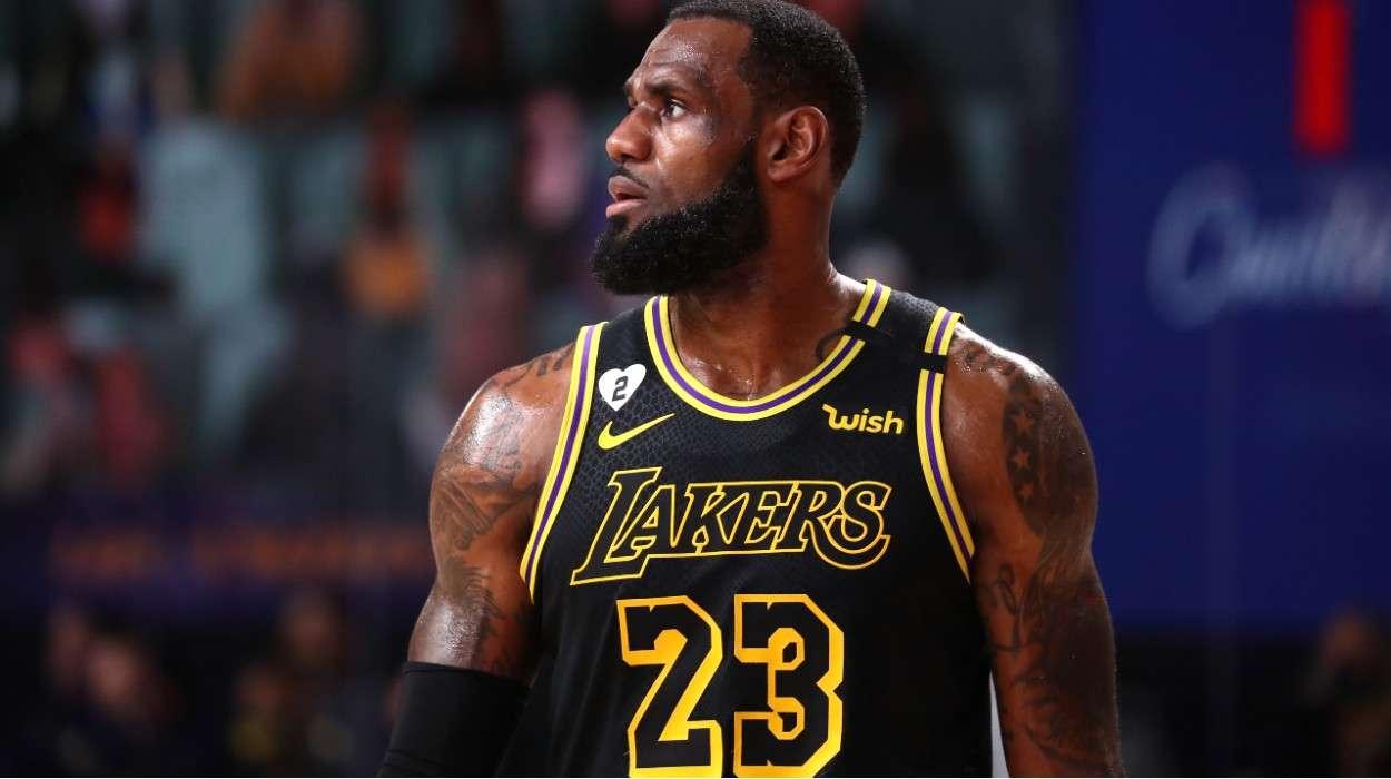 LeBron James Los Angeles Lakers Black Mamba