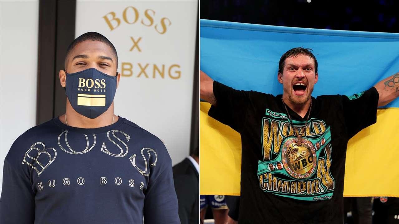 Anthony Joshua and Oleksandr Usyk