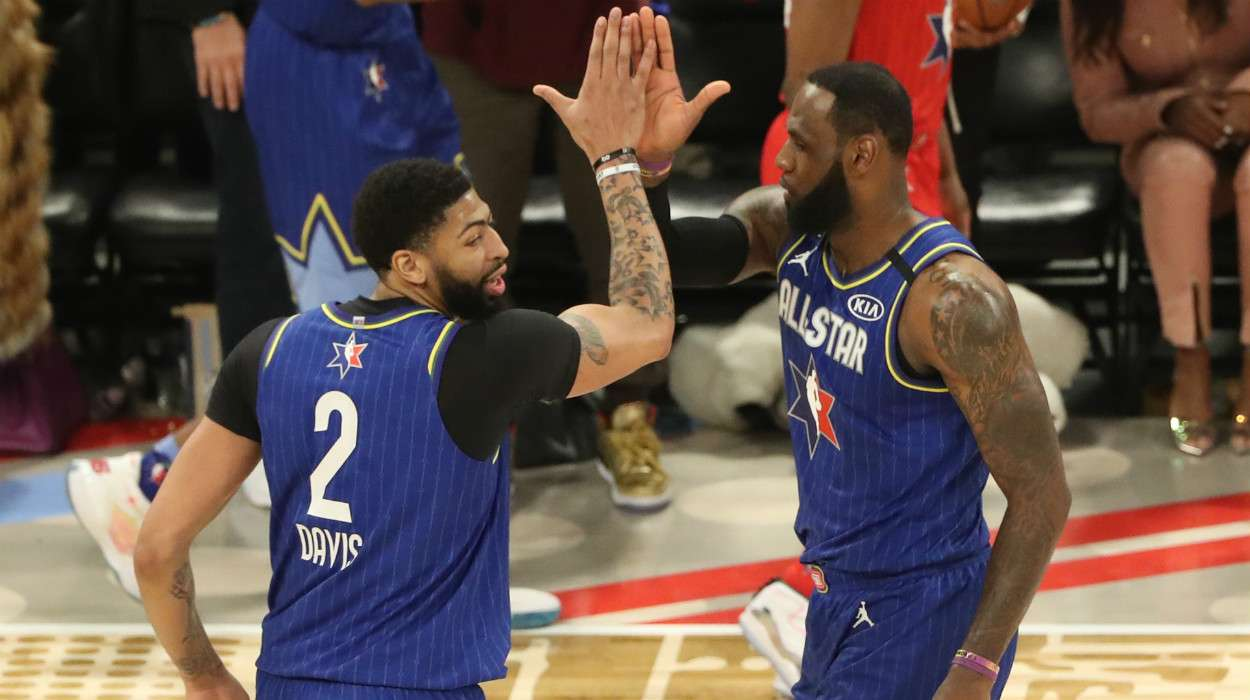 Anthony Davis LeBron James Team LeBron 69th NBA All-Star Game