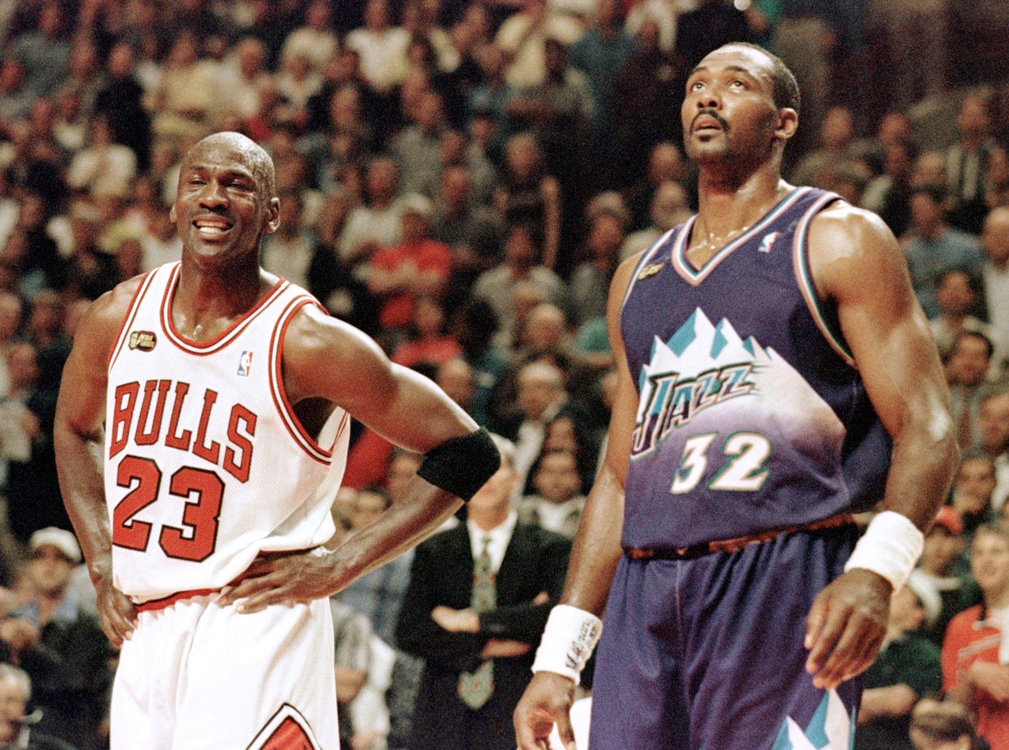 Karl Malone respects Michael Jordan, but 'I was a bad SOB, too'