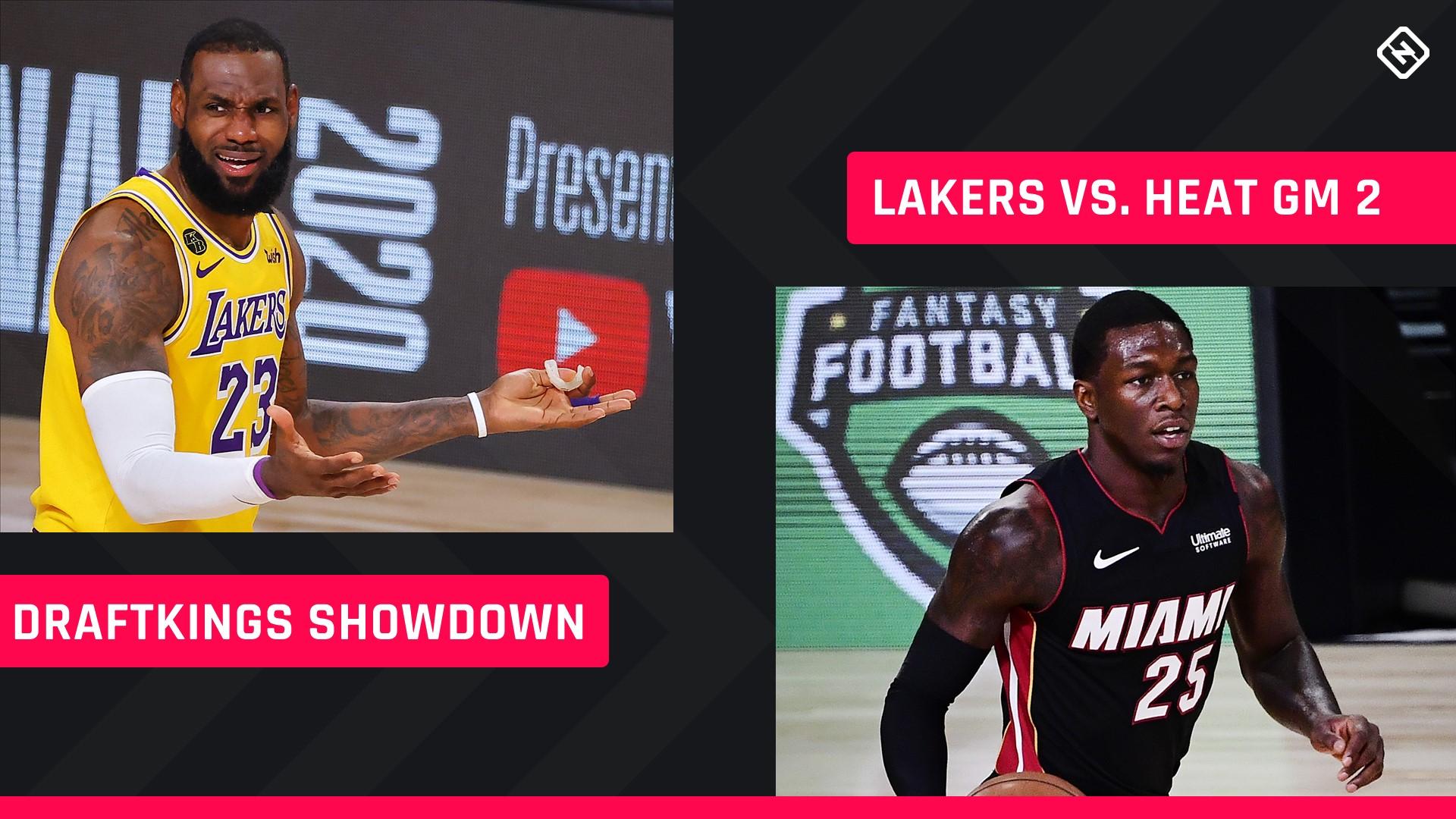 NBA Finals DraftKings Picks: NBA DFS lineup advice for Game 2 Lakers-Heat Showdown tournaments