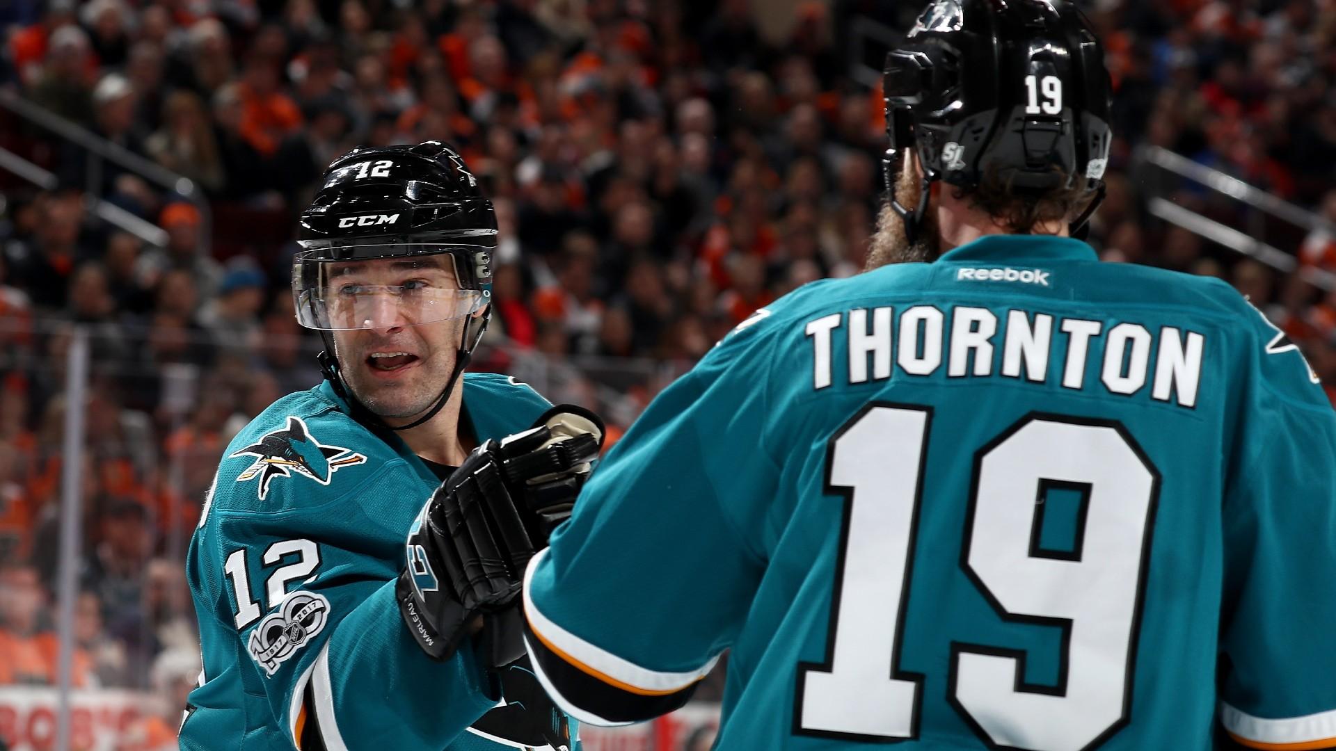Leafs' Joe Thornton hilariously congratulates Patrick ...