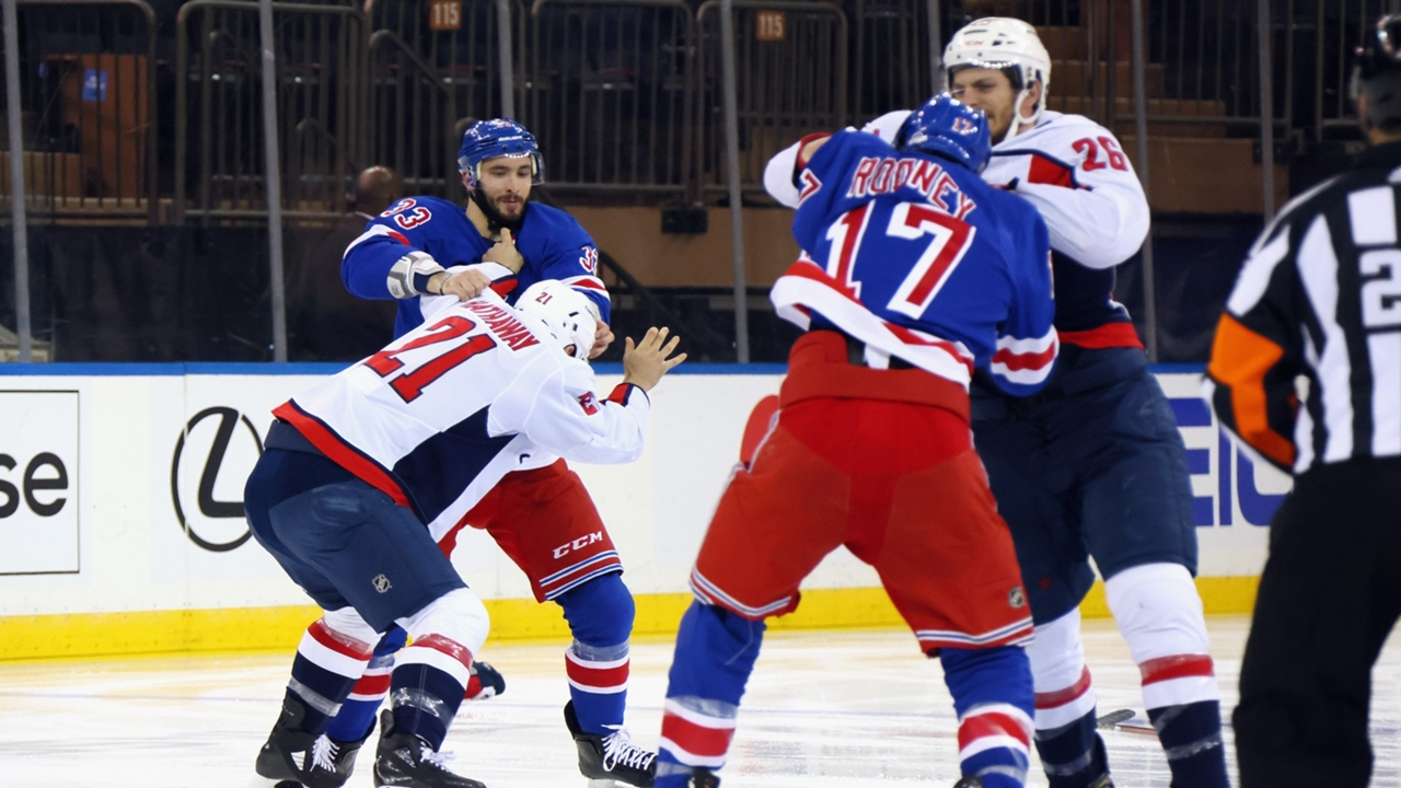 Rangers, Capitals start off game with six fights in first five minutes    Sporting News