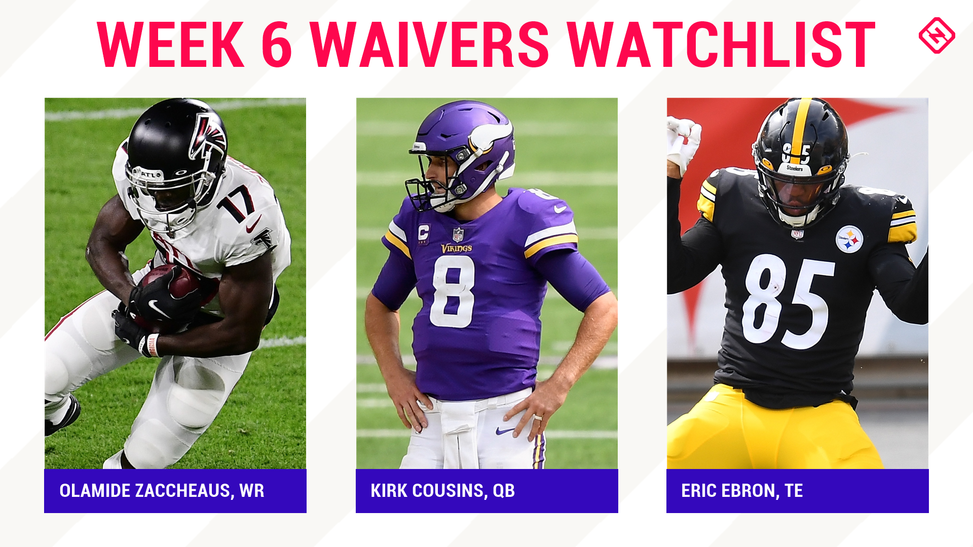 Fantasy Football Waiver Wire Watchlist for Week 6: Streaming targets, free agent sleepers include Olamide Zaccheaus, Kirk Cousins, Eric Ebron