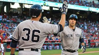 Mark Teixeira Carlos Beltran - 021815 - Getty - FTR