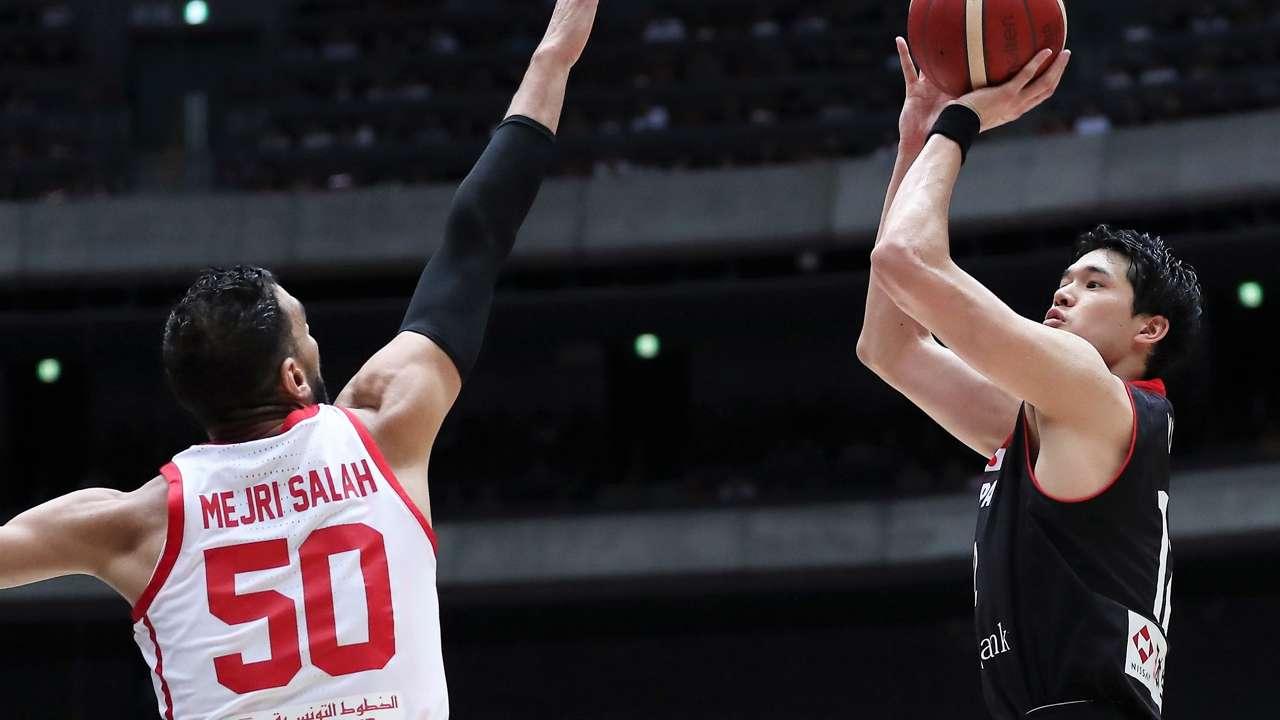 渡邊雄太 Yuta Watanabe Salah Mejiri Japan vs Tunisia
