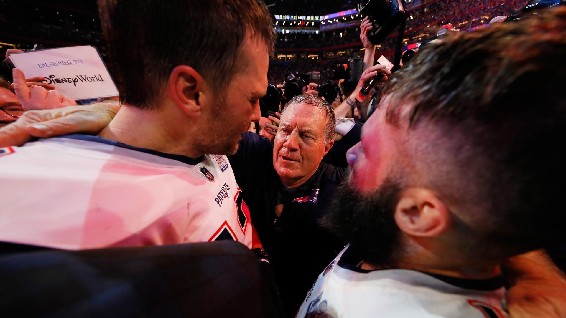 Bill Belichick and Tom Brady have reunited – to praise Julian Edelman's career