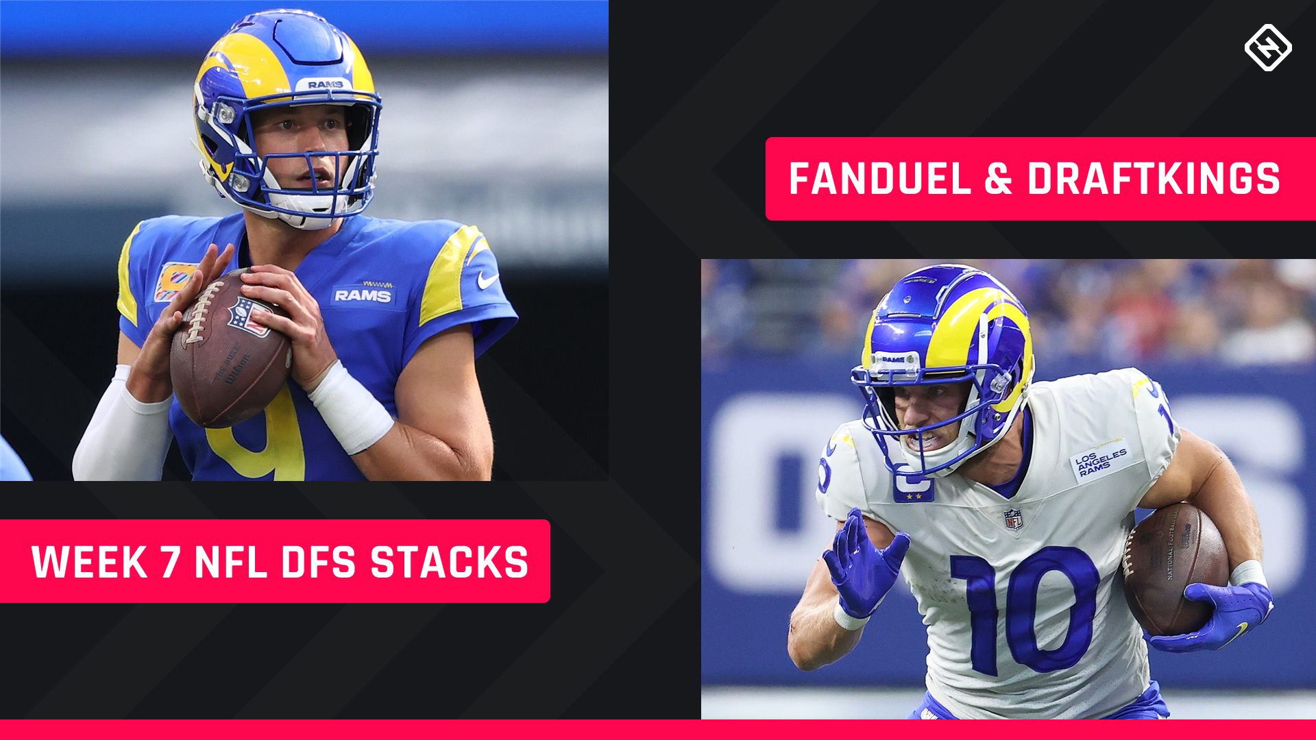 Best NFL DFS Stacks Week 7: Lineup picks for DraftKings, FanDuel tournaments, daily fantasy football cash games