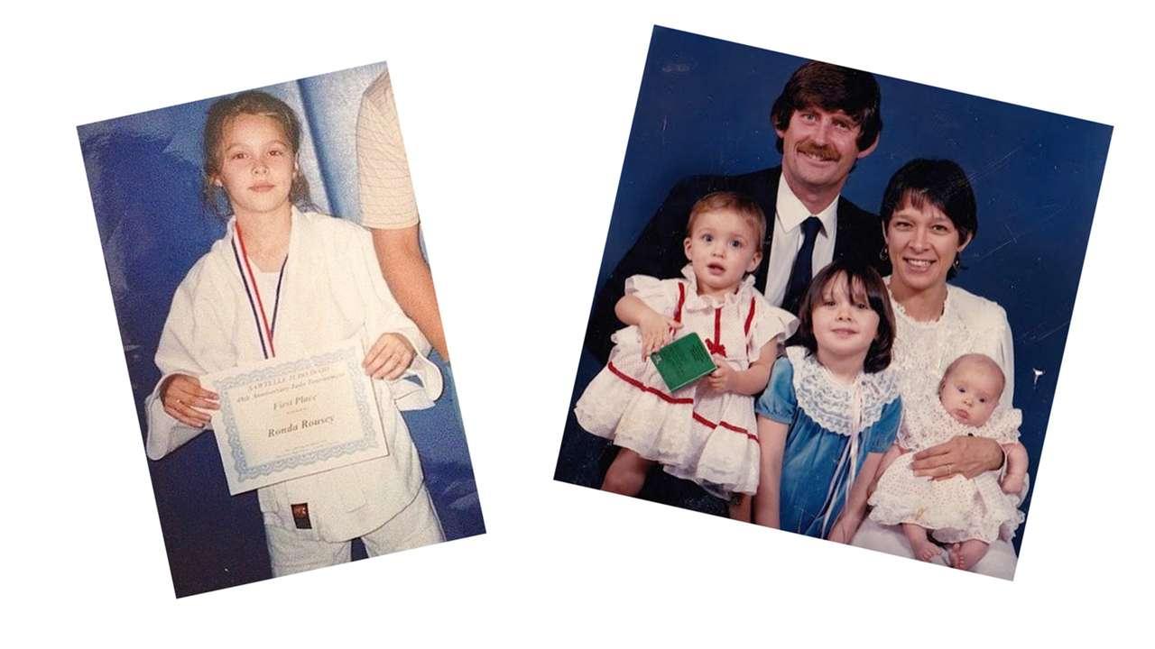 Ronda Rousey's childhood: A family photo album