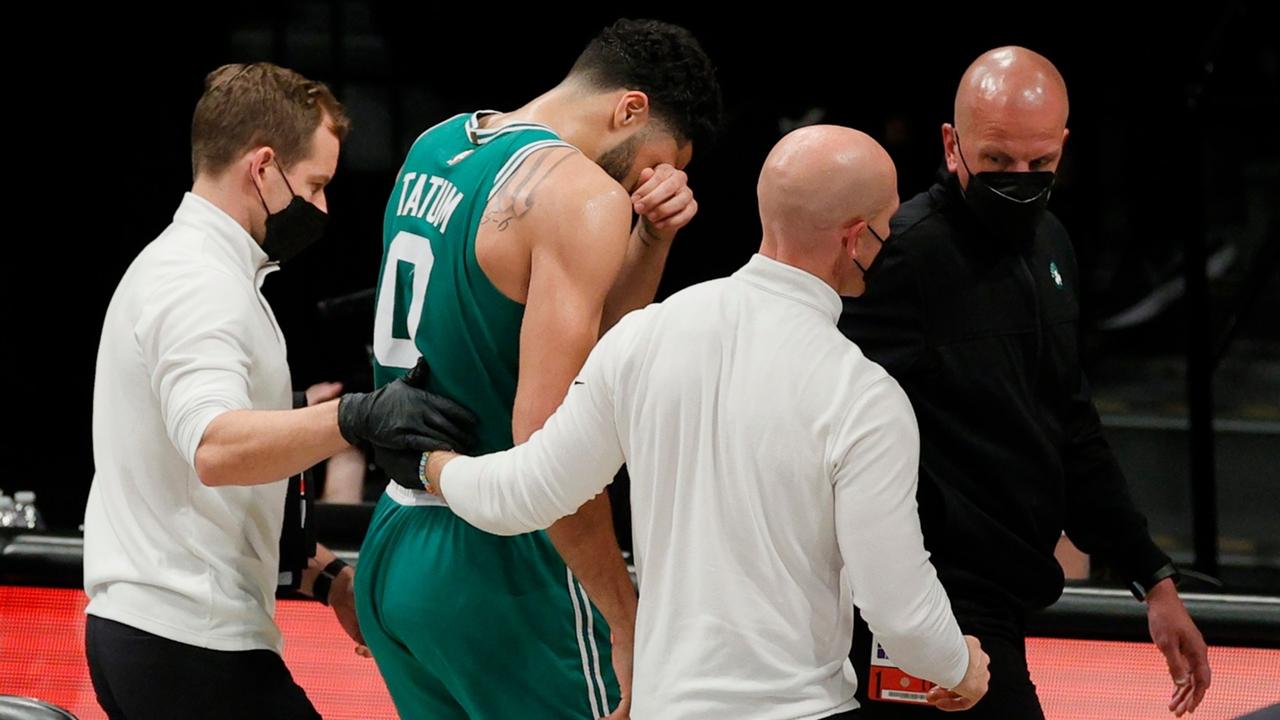 Jayson Tatum injury update: Brad Stevens says Celtics star's eye 'looks  pretty swollen'   Sporting News