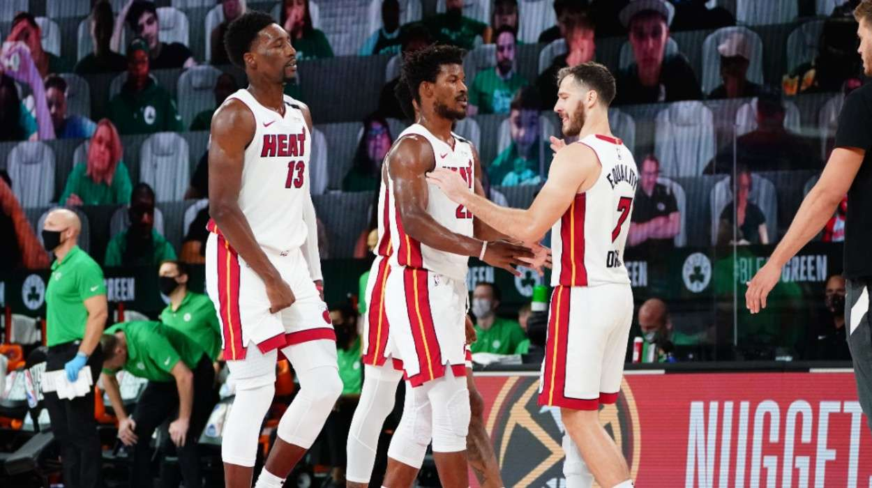 Bam Adebayo  Jimmy Butler  Goran Dragic Miami Heat