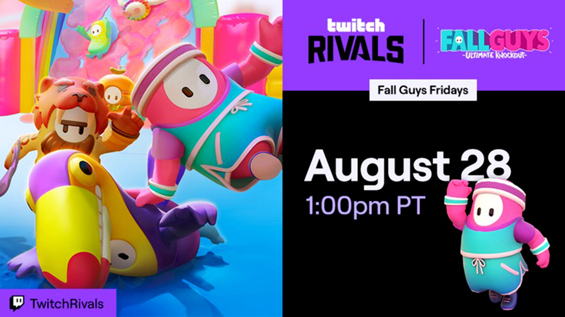 Twitch Rivals Fall Guys tournament: Teams, rules, how to watch & more