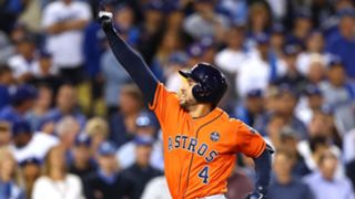 Scenes from Game 7 of the World Series