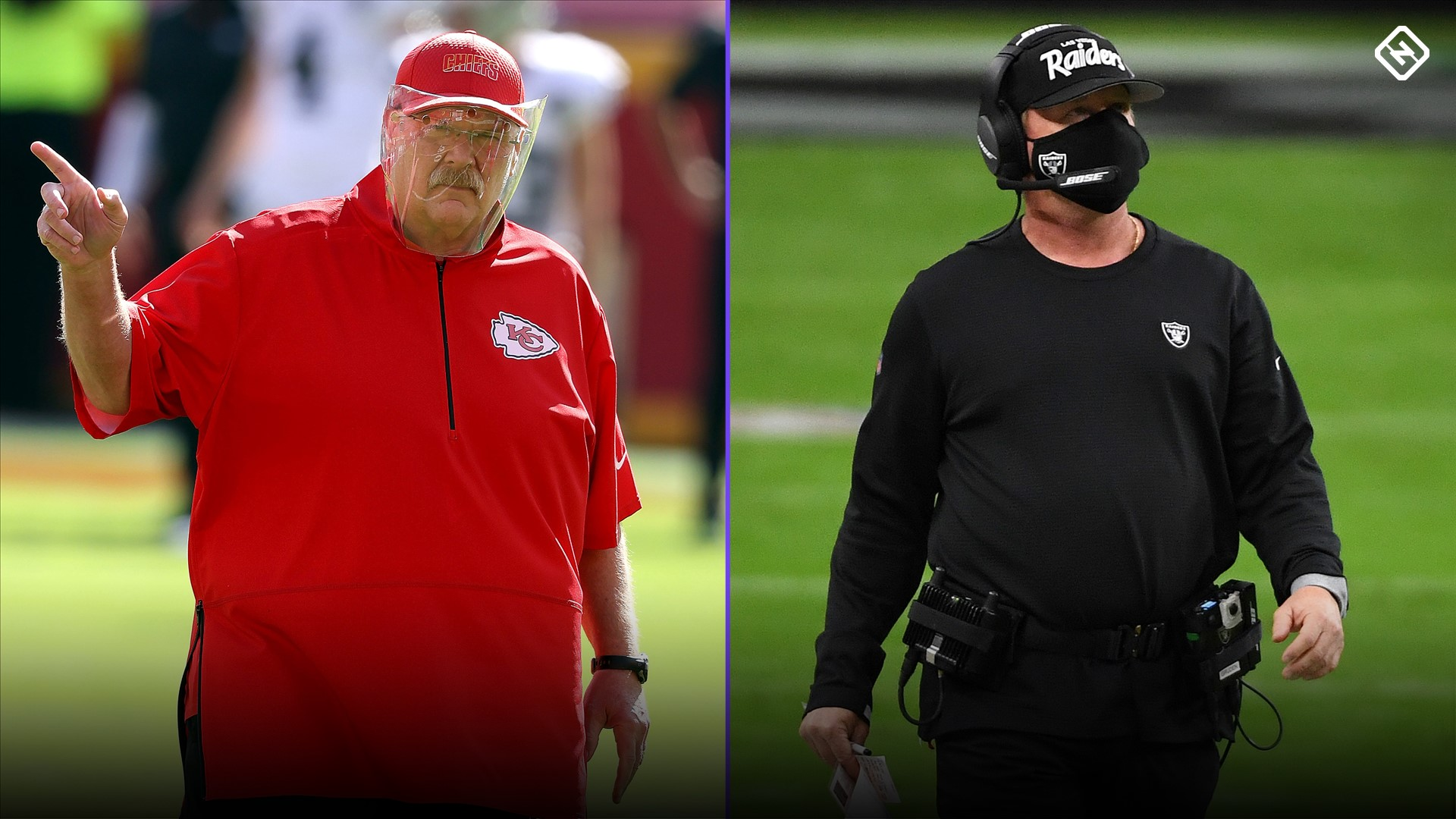 Andy Reid Jon Gruden are the faces of the NFLs face mask follies in 2020