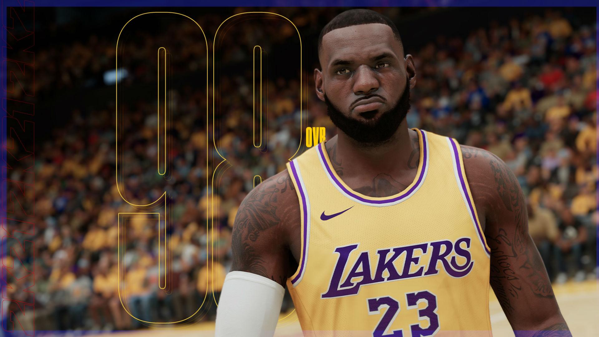NBA 2K21' ratings: LeBron James tops