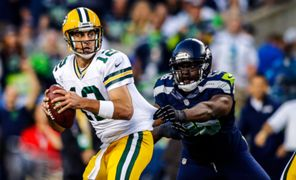 Aaron Rodgers and Cliff Avril